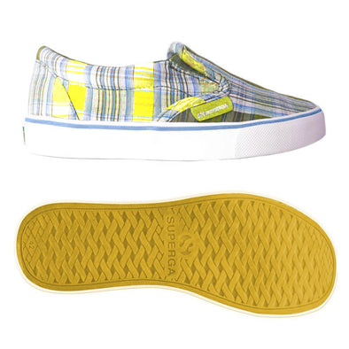Scarpe Superga Around The World Check Yellow Azure