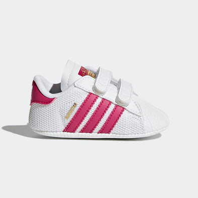 Adidas Baby Superstar Crib Bianco e Fuscia | ADIDAS | RocketBaby.it