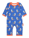 Tutina Pigiamino in Cotone Blue Seagull Print | TOBY TIGER | RocketBaby.it