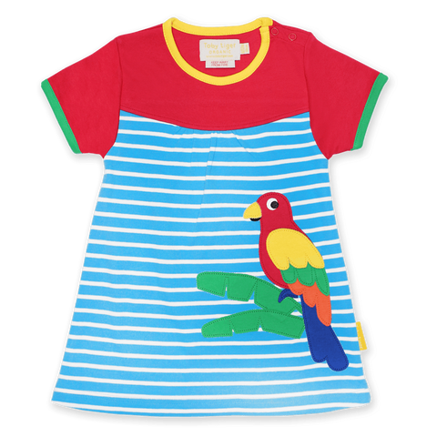 Vestito in Cotone Parrot Applique | TOBY TIGER | RocketBaby.it