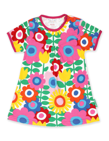 Vestito in Cotone Flower Power | TOBY TIGER | RocketBaby.it