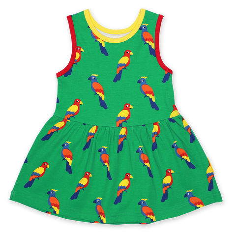 Vestito in Cotone Parrot Print | TOBY TIGER | RocketBaby.it