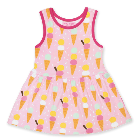 Vestito in Cotone Ice Cream Print | TOBY TIGER | RocketBaby.it