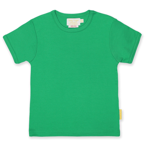 Maglietta a Maniche Corte in Cotone Green Basic | TOBY TIGER | RocketBaby.it