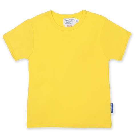 Maglietta a Maniche Corte in Cotone Yellow Basic | TOBY TIGER | RocketBaby.it