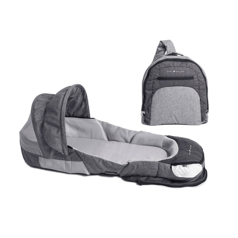 Riduttore e Lettino da Viaggio 2 in 1  Adventure Charcoal Grey | BABY DELIGHT | RocketBaby.it