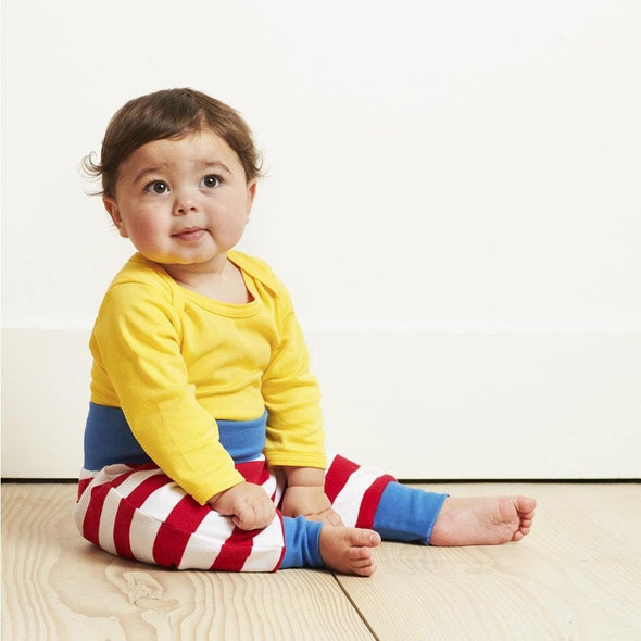 Leggings in Cotone Red Stripe | TOBY TIGER | RocketBaby.it