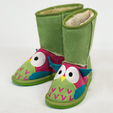 Babbucce Stivaletto Imbottite Owl | LAZY ONE | RocketBaby.it