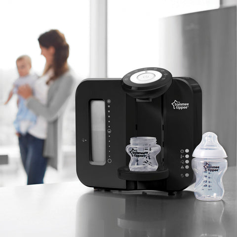 Robot Latte Espresso Closer To Nature Perfect Prep Black | TOMMEE TIPPEE | RocketBaby.it