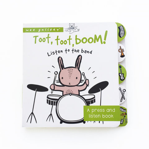 Libro Sensoriale Wee Toot Toot Boom Listen to the Band | WEE GALLERY | RocketBaby.it