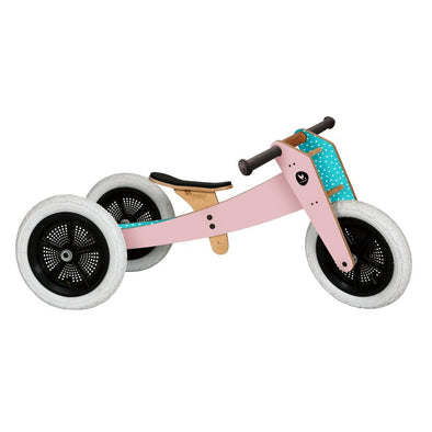 Bici-triciclo in legno rosa | WISHBONE | RocketBaby.it