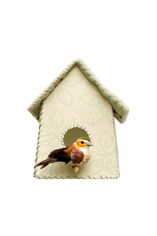 Sticker da muro Birdhouse fiori verdi | STUDIO DITTE | RocketBaby.it