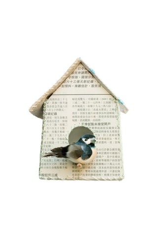 Sticker da muro Birdhouse newspaper - RocketBaby - 1