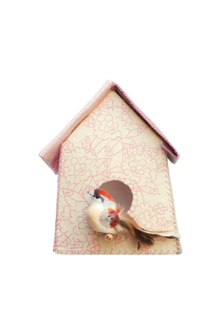 Sticker da muro Birdhouse fiori rosa | STUDIO DITTE | RocketBaby.it