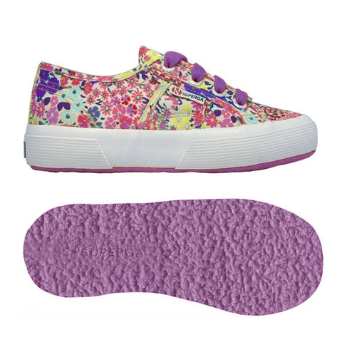 Sneaker Baby Superga con Lacci Flower Azure-Violet | SUPERGA | RocketBaby.it