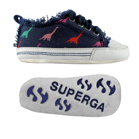 Sneakers Baby Superga Con Lacci Dinosaurs Navy | SUPERGA | RocketBaby.it