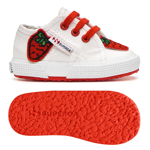 Sneakers Baby Superga Con Lacci White Red Strawberry | SUPERGA | RocketBaby.it