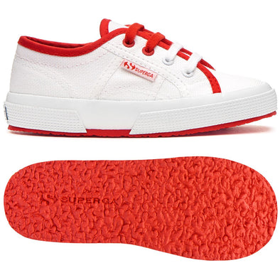 Sneakers Baby Superga Con Lacci White E Red | SUPERGA | RocketBaby.it