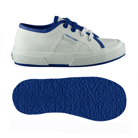 Sneakers Baby Superga Con Lacci White Intense Blue | SUPERGA | RocketBaby.it