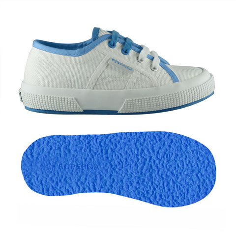 Sneakers Baby Superga Con Lacci White Azure Blue | SUPERGA | RocketBaby.it
