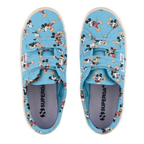 Sneakers Baby Superga Con Strappi Azul Mickey Pose | SUPERGA | RocketBaby.it