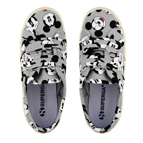Sneakers Baby Superga Con Strappi Grey Mickey Faces | SUPERGA | RocketBaby.it