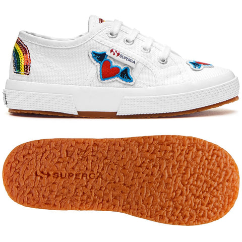 Sneakers Baby Superga Con Lacci White Rainbow Hearts | SUPERGA | RocketBaby.it