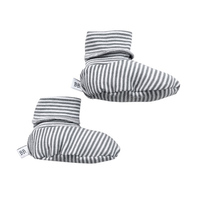 Babbucce Soft Sole Stripe White e Grey | BAMBOOM | RocketBaby.it