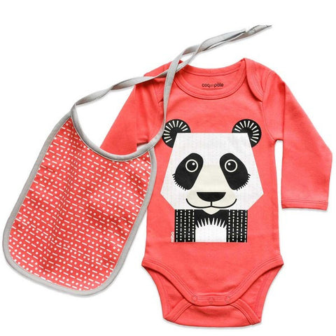 Kit body e bavaglino Panda - RocketBaby - 1