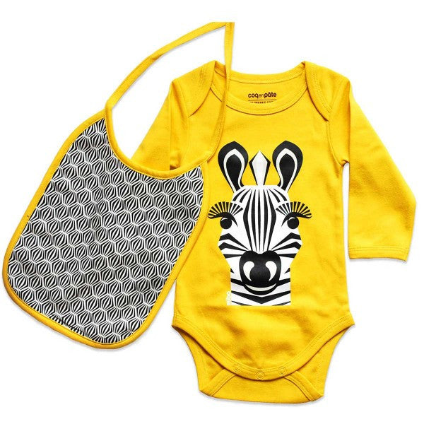 Kit body e bavaglino Zebra - RocketBaby - 1