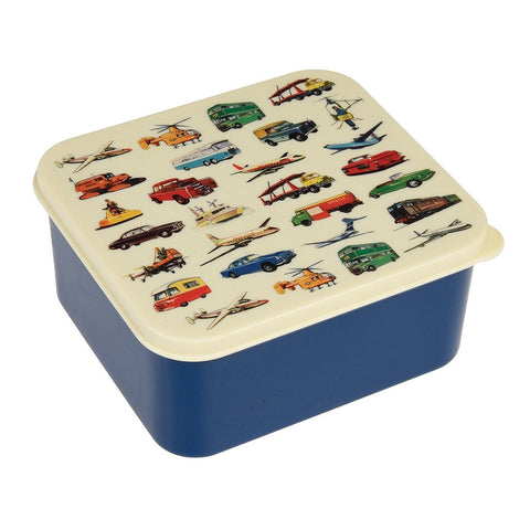 Lunch Box Blue Vintage Transport | REX LONDON | RocketBaby.it