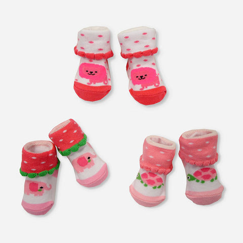 Multipack 6 Calze Animals Pink Newborn | MULTIPACK | RocketBaby.it