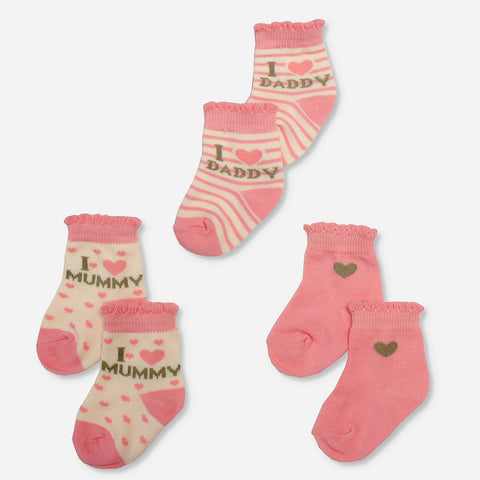 Multipack 12 Calze I Love Pink e Cream | MULTIPACK | RocketBaby.it