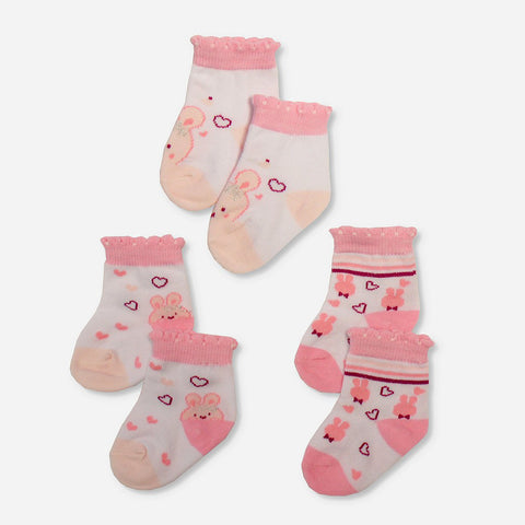 Multipack 12 Calze Love Animals Pink | MULTIPACK | RocketBaby.it
