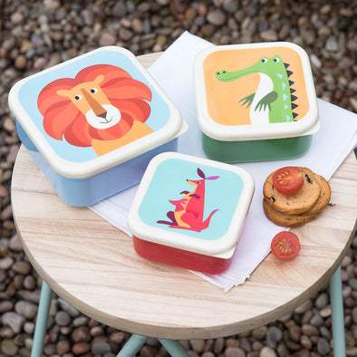 Set 3 Snack Box Colourful Creatures | REX LONDON | RocketBaby.it