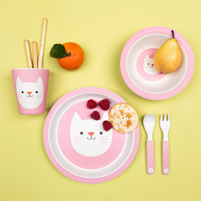 Set Pappa in Bamboo Cooie the Cat | REX LONDON | RocketBaby.it