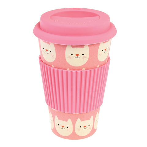 Mug In Bamboo Con Coperchio Cookie The Cat | REX LONDON | RocketBaby.it
