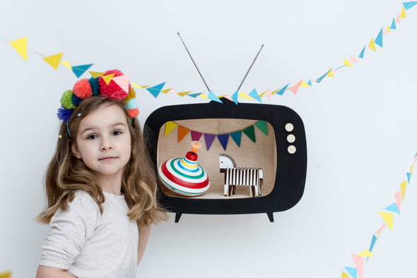 Mensola Contenitore TV Nera | UP WARSAW | RocketBaby.it
