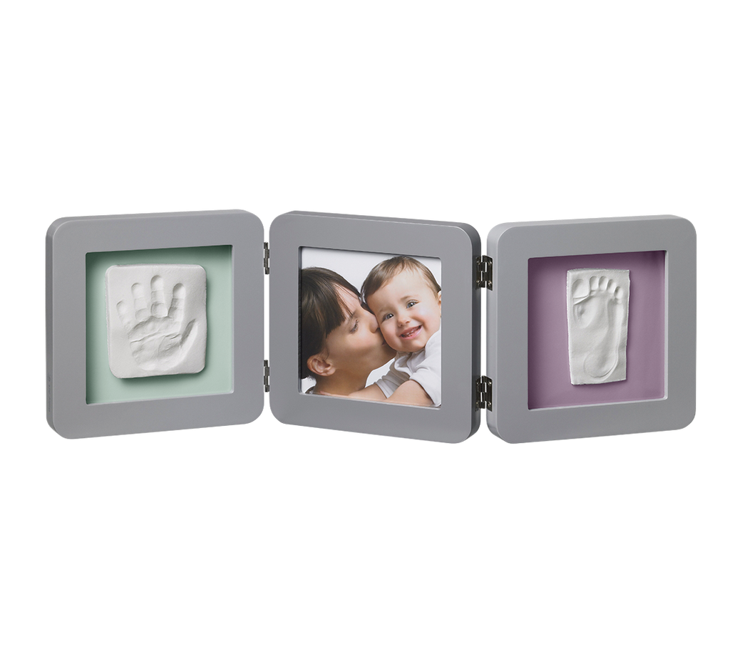 Cornice Tripla Quadrata Grigia - BABY ART - RocketBaby.it - RocketBaby