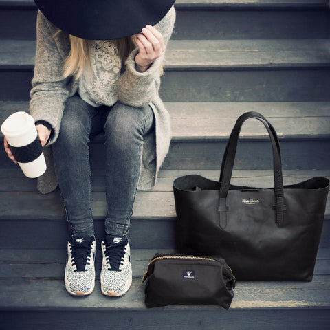 Borsa Fasciatoio Black Leather - ELODIE DETAILS - RocketBaby.it