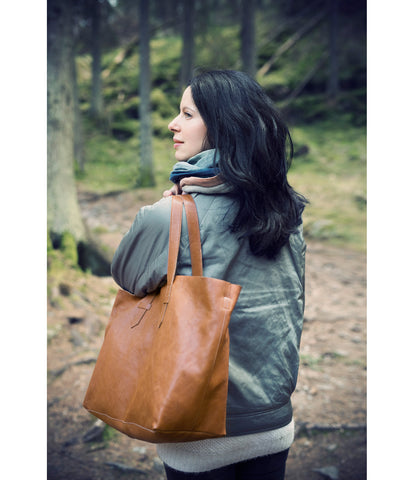 Borsa Fasciatoio Chestnut Leather - RocketBaby - 2