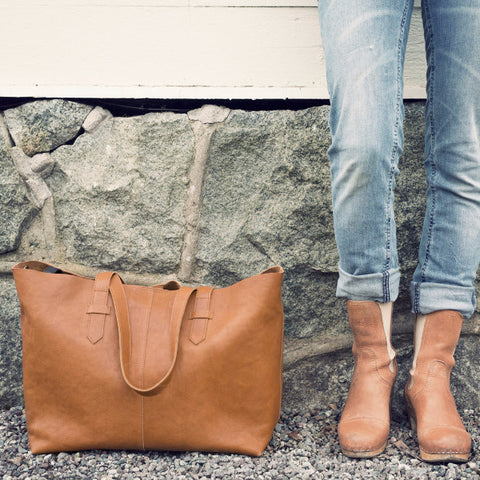 Borsa Fasciatoio Chestnut Leather - ELODIE DETAILS - RocketBaby.it