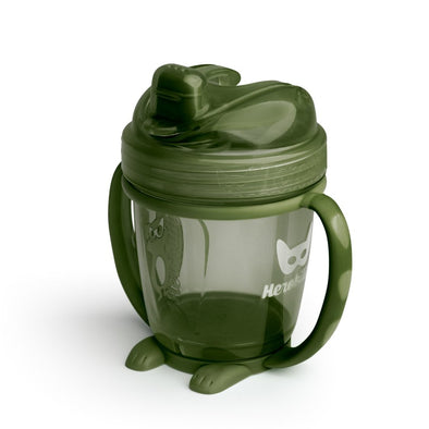 Sippy Cup con Cappuccio 140 ml Army Green | HEROBILITY | RocketBaby.it