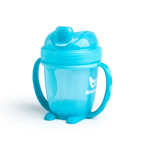 Sippy Cup con Cappuccio 140 ml Blue | HEROBILITY | RocketBaby.it