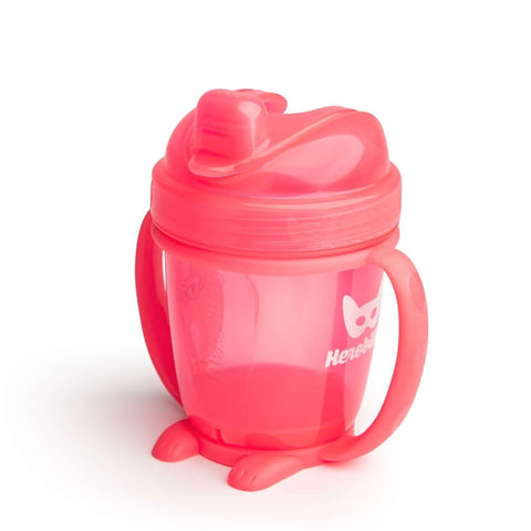 Sippy Cup con Cappuccio 140 ml Coral | HEROBILITY | RocketBaby.it