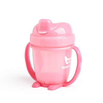 Sippy Cup con Cappuccio 140 ml Pink | HEROBILITY | RocketBaby.it
