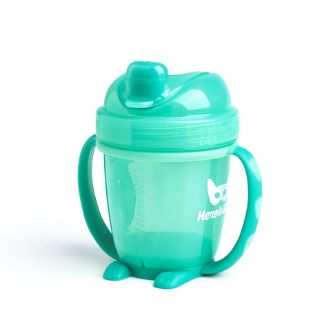 Sippy Cup con Cappuccio 140 ml Turquoise | HEROBILITY | RocketBaby.it