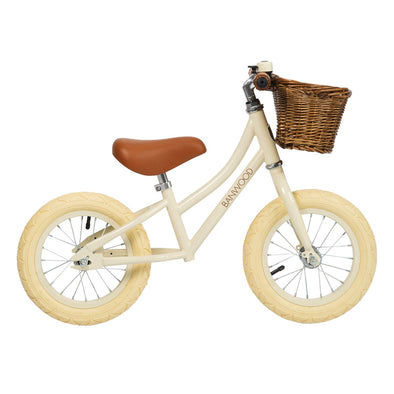 Bicicletta Balance Bike First Go Girl Cream