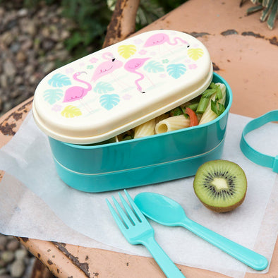 Bento Box Flamingo Bay | REX LONDON | RocketBaby.it