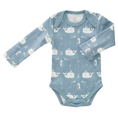 Body Manica Lunga Balena Blu | FRESK | RocketBaby.it
